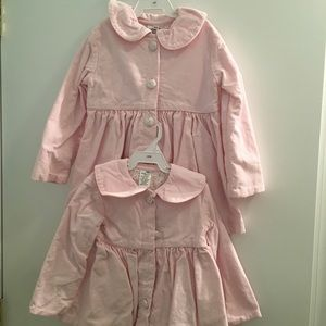 Matching 12M and 4T pink corduroy jackets